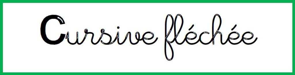 cursive flechee