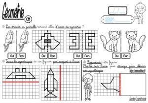 Tracer le symétrique (CM-Géométrie-Les fiches d'activité)