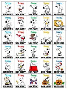 Les bons points Snoopy
