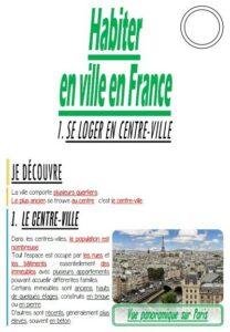 Habiter en ville en France (CM/Géographie)