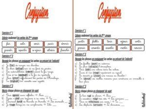 Les fiches d'exercices (CM/Conjugaison)