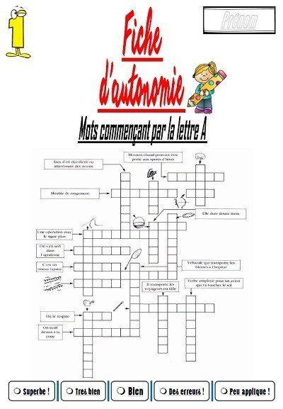 Super Le fichier (Mots fléchés) – laclassebleue KX88