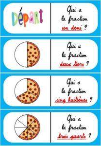 Les fractions usuelles (Jeu de dominos)