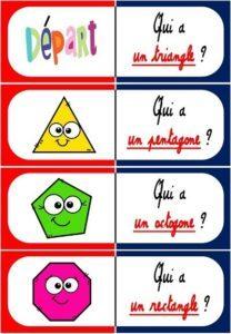 Les polygones et les non-polygones (Jeu de dominos)