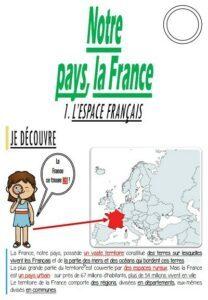 Notre pays, la France (CM/Géographie)