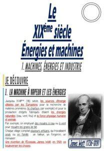 Energies et machines au XIXème siècle (CM/Histoire)
