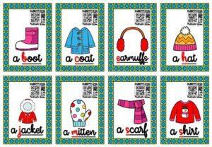 Les cartes-audios (Winter Clothes)