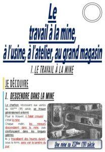 Le travail à la mine, à l'usine, à l'atelier et au grand magasin (CM/Histoire)