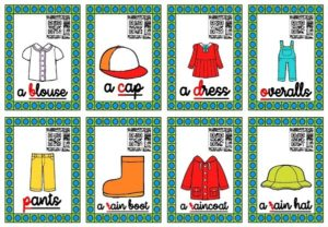 Les cartes-audios (Spring Clothes)