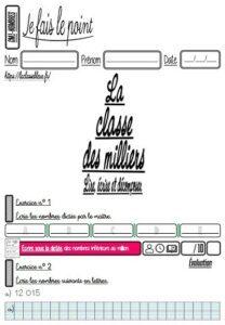 Les évaluations de nombres (CM)