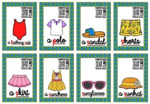Les cartes-audios (Summer Clothes)