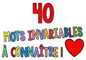 Les mots invariables (CE1/Affichage didactique)