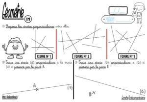 Droites perpendiculaires (CM-Géométrie-Les fiches d'activité)