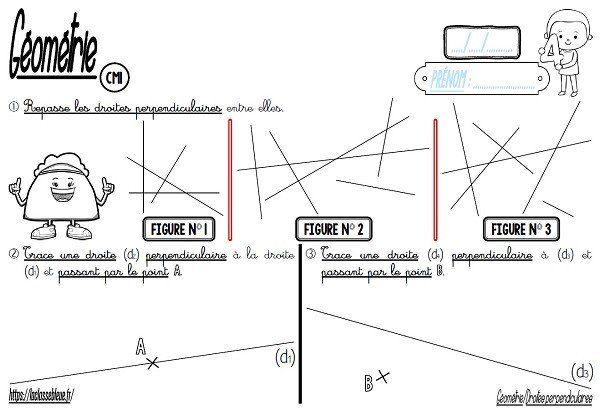 Cm Geometrie Droites Perpendiculaires Laclassebleue