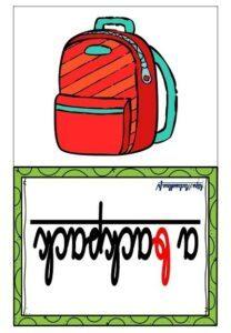 Les flashcards (Le matériel scolaire)