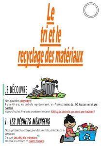 Le tri et le recyclage des matériaux (CM-Sciences)