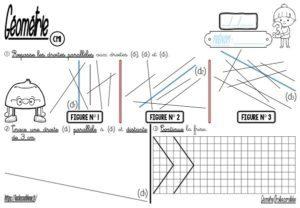 Droites parallèles (CM-Géométrie-Les fiches d'activité)