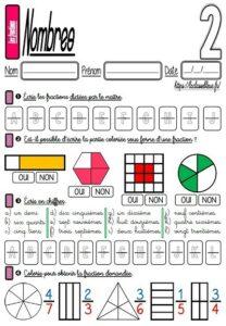 Les fractions (Lire et écrire)