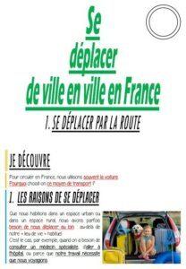 Se déplacer de ville en ville en France (CM-Géographie)