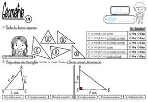 Les triangles (CM-Géométrie-Les fiches d'activité)