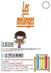 Les mélanges (CM-Sciences)