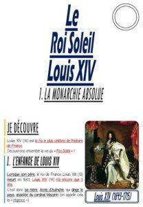 Le Roi Soleil, Louis XIV (CM/Histoire)