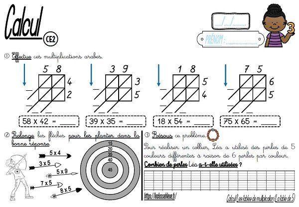 CE2-Calcul-Les tables de multiplications - laclassebleue