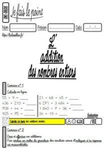 Les évaluations de calcul (CM)