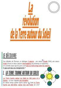La révolution de la Terre autour du Soleil (CM-Sciences)