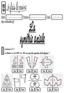 Les évaluations de géométrie (CM)