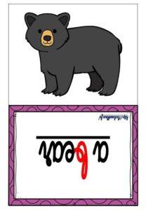 Les flashcards (Les animaux du zoo)