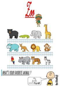 La trace écrite (Les animaux du zoo)