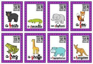 Les cartes-audios (Les animaux du zoo)