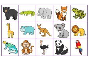 Les miniatures pour jeux (Les animaux du zoo)