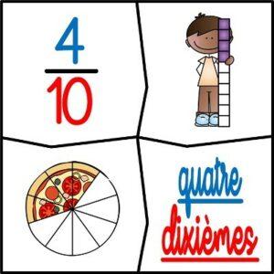 Les fractions (Les puzzles)