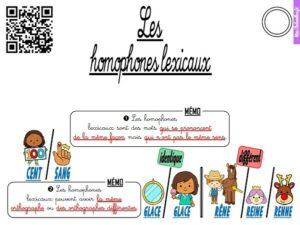 Les leçons de vocabulaire (CM)