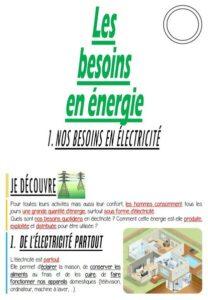 Les besoins en énergie (CM/Géographie)
