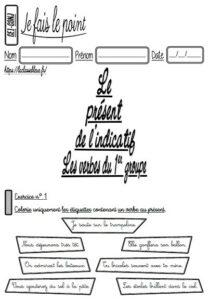Les évaluations de conjugaison (CE1)
